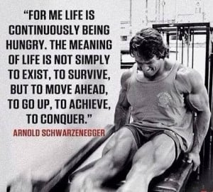 for me life is continuously being hungry the meaning of life is not ...