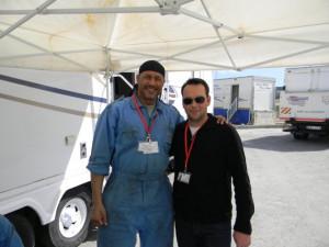 Mark Holden with Dana Brunetti on the set of Captain Phillips in Malta ...
