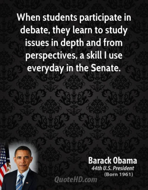 When students participate in debate, they learn to study issues in ...