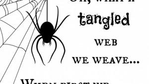 Tangled Web Halloween Printable