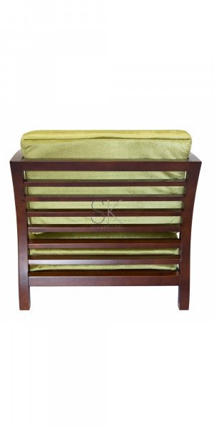 Replica Sofia Danish Arm Chair Green Fabric amp Walnut Frame