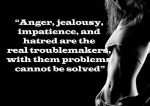 ... , Impatience And Hatred Are The Real Troublemakers - Anger Quote