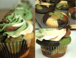 Love these Camouflage Cupcakes! Perfect for soldier's coming home ...