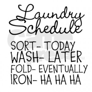 funny_laundry_schedule_modern_wall_clock.jpg?color=Silver&height=460 ...