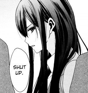 anime girl, annoyed, girl, long hair, manga, monochrome, pretty, shut ...
