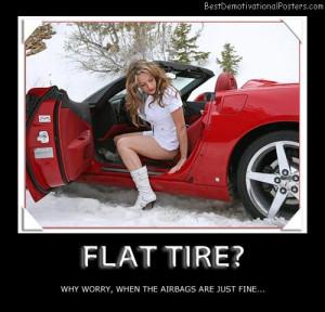 Flat Tire Funny Quotes Quotesgram