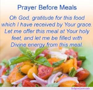 prayer before meals
