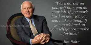 Work Harder on Yourself – Jim Rohn Quote