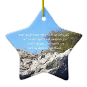 Bible Verses Inspirational Quote Isaiah 41:10 Christmas Tree Ornament