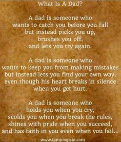 Wish one particular dad would read this...maybe he'd see how he treats ...