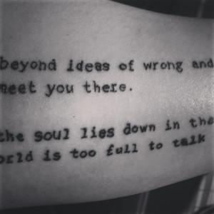... .Tattoo Ideas, Wisdom Rumi, Rumi Quotes, Sisters Tattoo, Rumi Tattoo