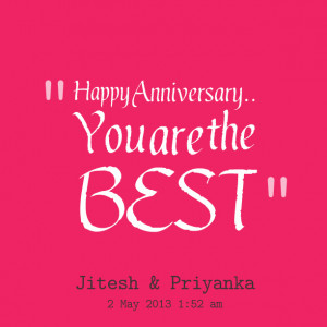 Quotes Picture: happy anniversary you are the best