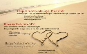 Valentine 39 s Day Massage Specials