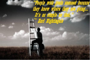 Earl nightingale people with goals quote