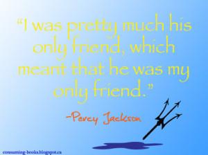 Litspiration Challenge #1 - Percy Jackson Quote