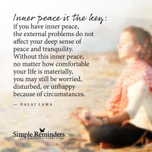 ... peace is the key by dalai lama inner peace is the key by dalai lama