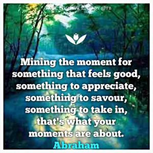 ... to take in, that's what your moments are about. Abraham-Hicks Quotes