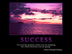 Motivational wallpaper on Success : Position and direction Quote by ...