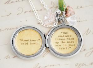 ... | Women's Locket - Friendship Jewelry - Winnie the Pooh Quote