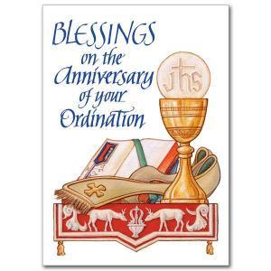 Ordination Anniversary Card Pk5 - CB1497