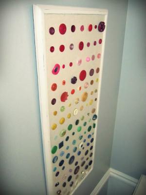 button wall decor diy