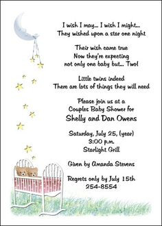 sayings to put on twin baby invitations | Pink Baby Twins Shower ...