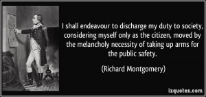 Richard Montgomery Quote