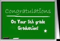 Congratulations 5th grade graduation, chalkboard card - Product ...