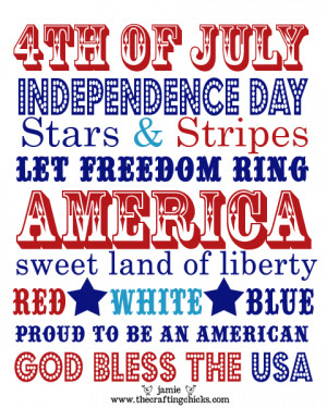 Fourth of July Art Printable :: The Crafting Chicks
