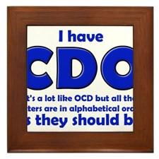 OCD CDO Funny T-Shirt Framed Tile for