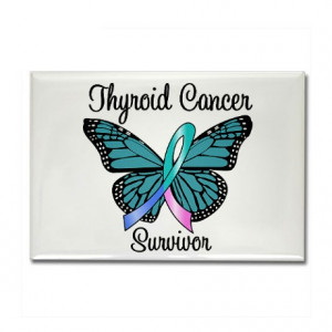 Thyroid Cancer Faith Butterfly Ribbon - Wedding Stamps