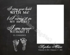 Infant Loss Baby Memorial Printable Personalized Photo Printable Wall ...