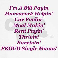 Proud Single Mama Hoodie on CafePress.com