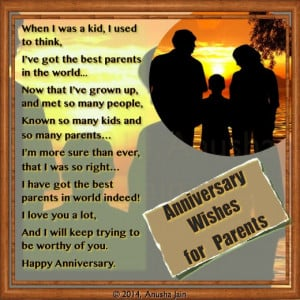 ... Deep Love and Affection for your Parents on their Anniversary