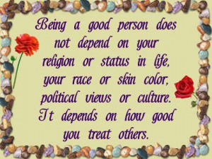 Being a Good Person.