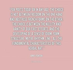 Quotes by James Fenton