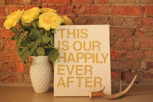 42. Quote Wall Art : Use patterned fabric and your favorite quote to ...