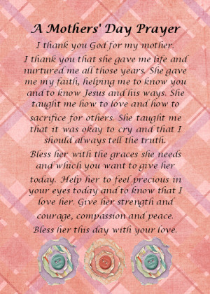 Prayer for Mother's Day http://gaelstreasures.blogspot.com/2012/05 ...