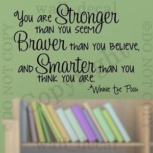 ... Stronger-Than-You-Seem-Wall-Decal-Vinyl-Sticker-Quote-Winnie-The-Pooh