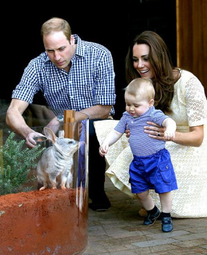 Prince William's Quotes...On Not Letting Prince George Touch a Bilby ...