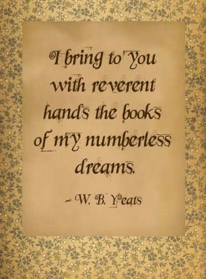 Yeats, yeah Yeats