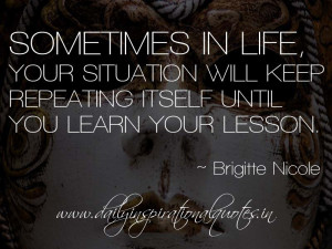 Learn Your Lesson Quotes