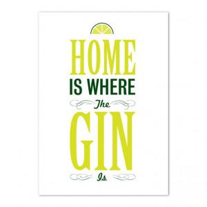 A3 Gin Print - Folksy
