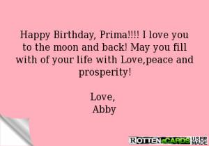 Happy Birthday Prima Happy birthday, prima!