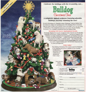 These are the bulldog family christmas tree the danbury mint Pictures