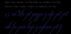 Lord Of The Rings Elvish Translator , Lord Of The Rings Elvish Quotes ...