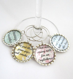 Downton Abbey Wine Glass Charm Dowager Countess Funny Quotes