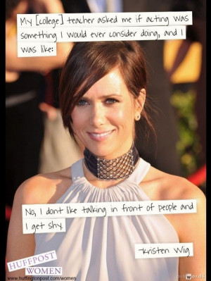 Kristen Wiig Funny Quotes