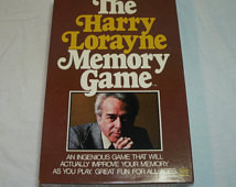 Vintage 1976 - The Harry Lorayne Me mory Game By Reiss Games Inc ...
