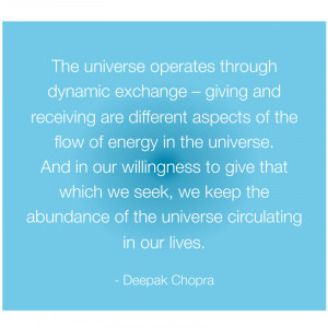 ... receiving are different aspects of the flow of energy in the universe
